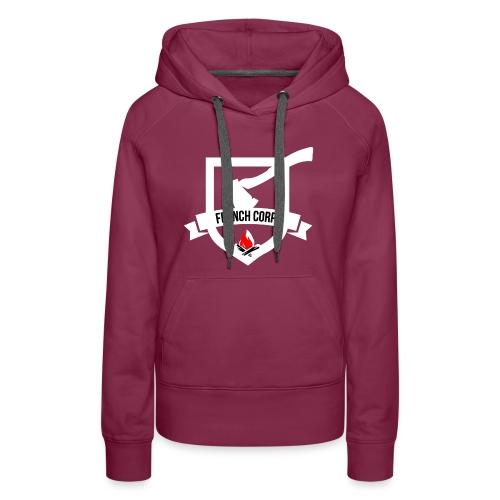 FrenchCorps - Sweat-shirt à capuche Premium pour femmes
