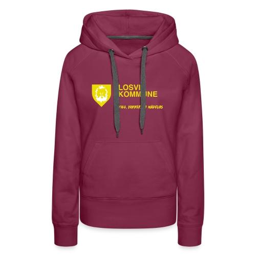 Losvik kommune - Premium hettegenser for kvinner