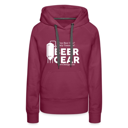 Beer Gear free Beer White - Premium hettegenser for kvinner