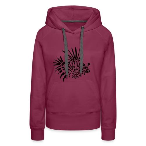 poisson lion - tattoo - Sweat-shirt à capuche Premium pour femmes