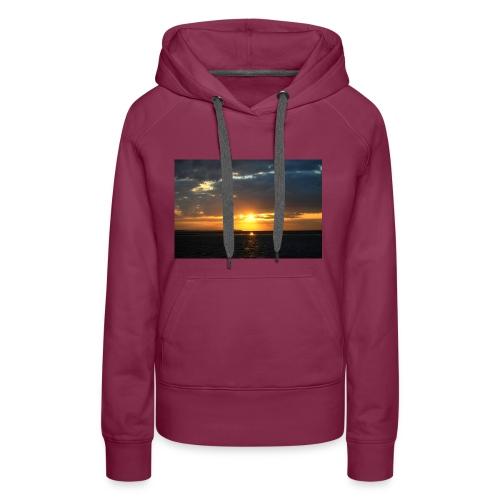 t-shirt zonsondergang - Vrouwen Premium hoodie