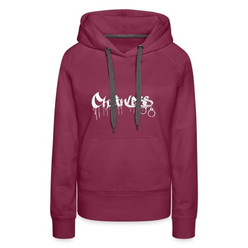 Chainless Records - Sudadera con capucha premium para mujer