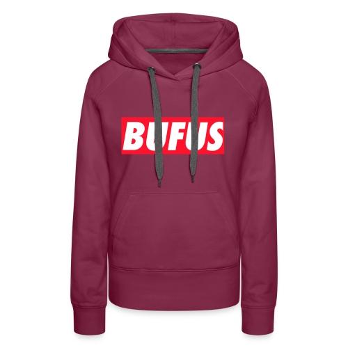 BUFUS - Felpa con cappuccio premium da donna