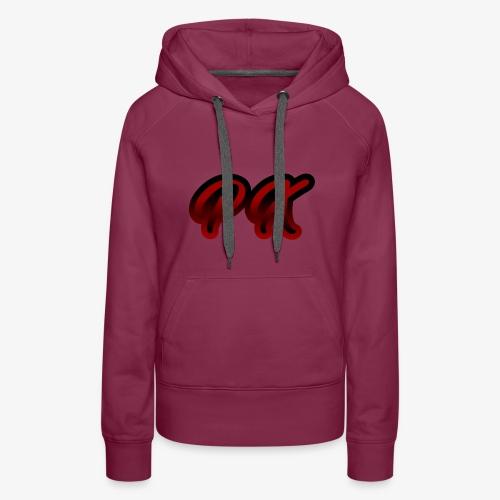 PX Logo 1 red black - Frauen Premium Hoodie
