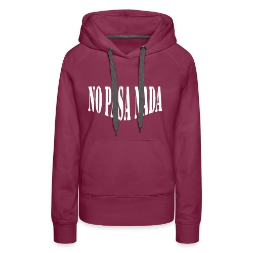scritta per maglione png BIANCO - Felpa con cappuccio premium da donna