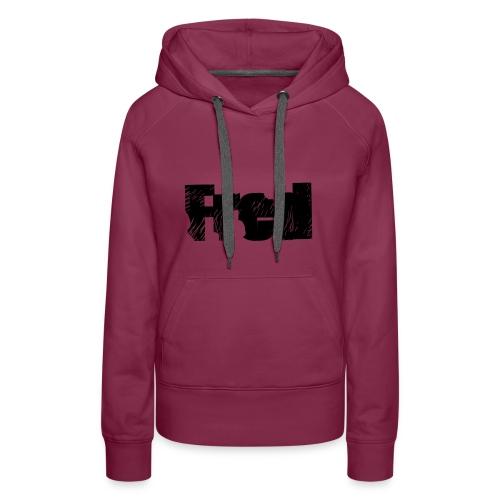 Fred logo - Dame Premium hættetrøje