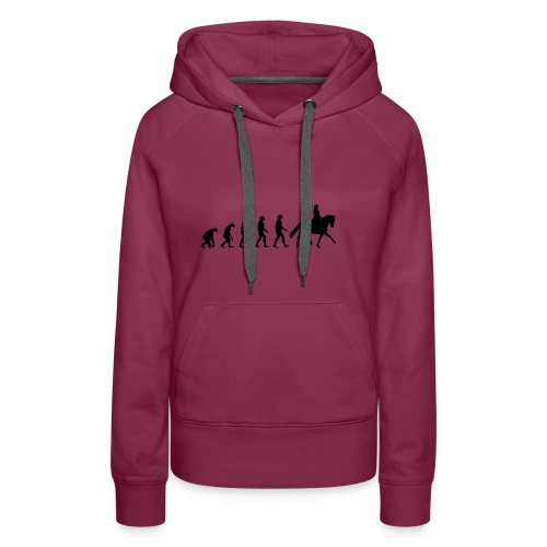 Evolution Of A Dressage Rider - Women's Premium Hoodie