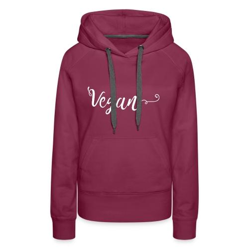 Vegan logo blanc - Sweat-shirt à capuche Premium pour femmes