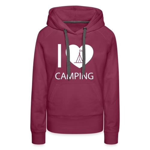 I love Camping - Frauen Premium Hoodie