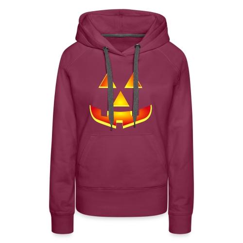 Smiling pumpkin - T Shirt, Halloween, Scary Face - Women's Premium Hoodie