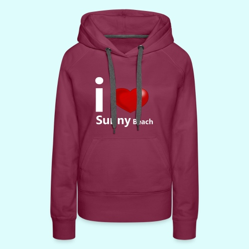 I love Sunny Beach 2 (white print) - Vrouwen Premium hoodie