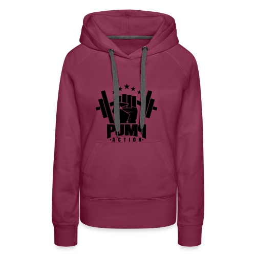 PUMP-ACTION LOGO BLACK - Frauen Premium Hoodie