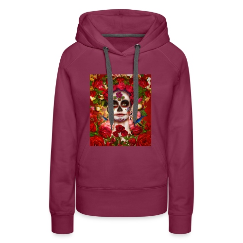 La-Catrina mit Rosen und Vögeln - Frauen Premium Hoodie