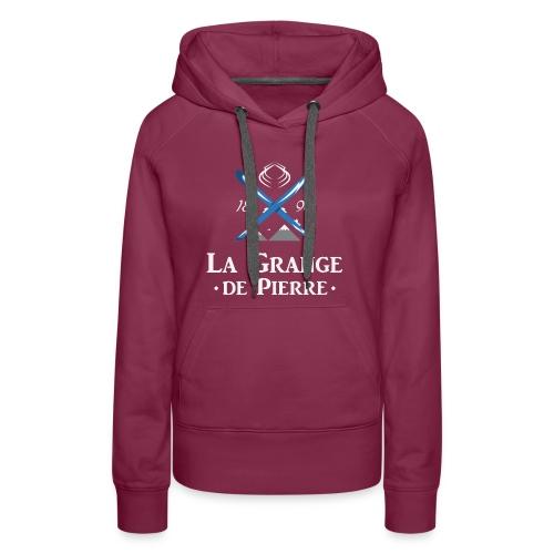 La Grange de Pierre Blue Cross Light - Sweat-shirt à capuche Premium pour femmes