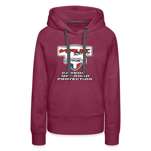 logo carbon off road - Sweat-shirt à capuche Premium pour femmes