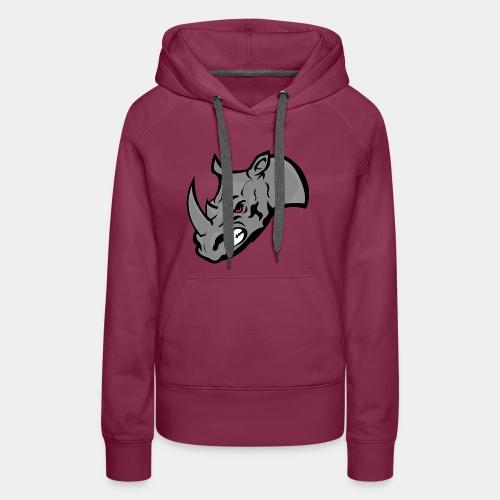 Rhino Mascot design - Women's Premium Hoodie