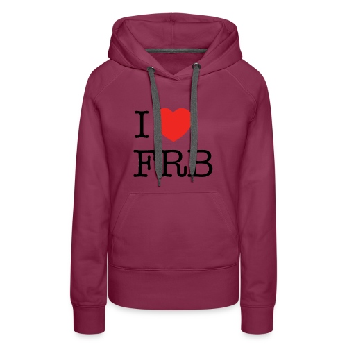 I Love FRB - Bestsellere - Dame Premium hættetrøje