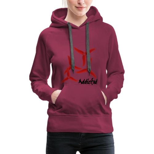 addicted (black) with props (red) - Vrouwen Premium hoodie