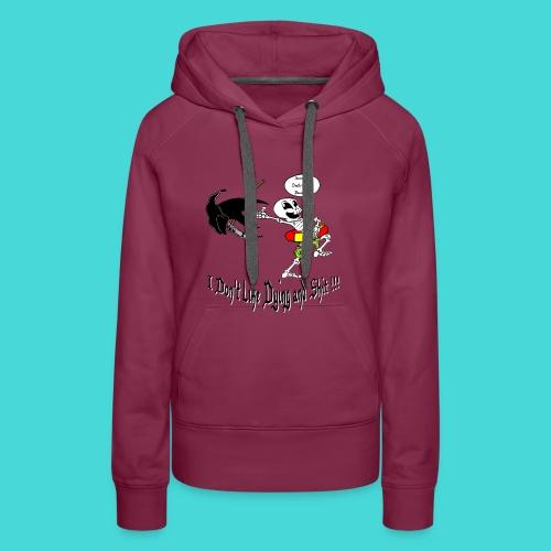 Happy Living Skeleton - Vrouwen Premium hoodie