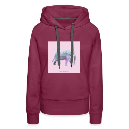 Elefante Intero triangoli - Felpa con cappuccio premium da donna