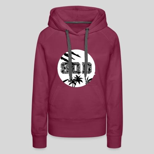 SQD tshirt logo wit - Vrouwen Premium hoodie