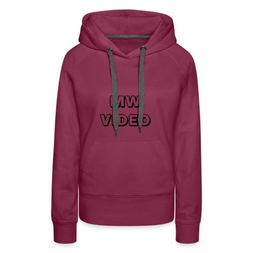 mw video's cap - Vrouwen Premium hoodie
