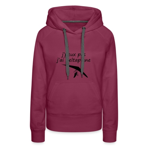j peuxpas j'ai deltaplane - Sweat-shirt à capuche Premium pour femmes