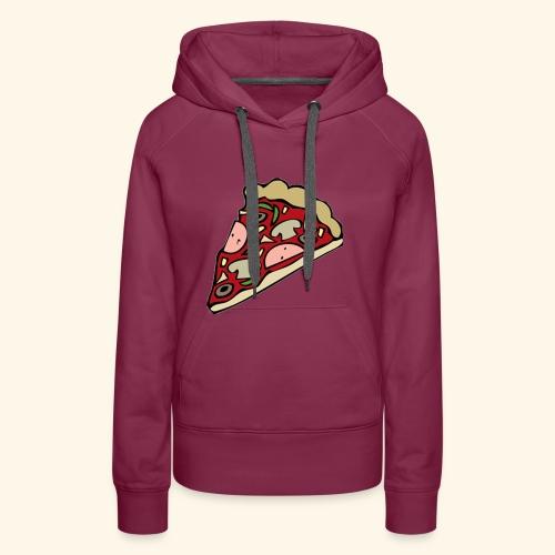 Pizza - Sweat-shirt à capuche Premium pour femmes