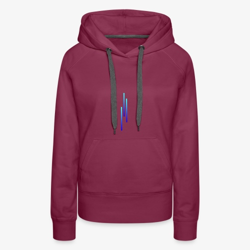 Upwards 3Lines Design AQUA - Women's Premium Hoodie