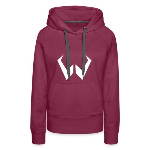 logo de without gravity pk - Sudadera con capucha premium para mujer