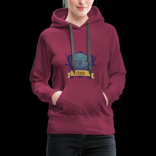 logo coma - Sweat-shirt à capuche Premium pour femmes
