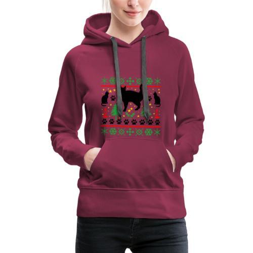 Kerst met katten - Vrouwen Premium hoodie