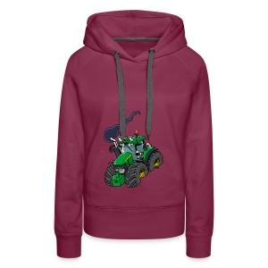 GREEN TRACTOR - Vrouwen Premium hoodie