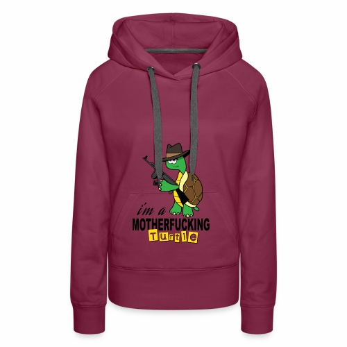 Gangster Schildkröte Geschenk Cool - Frauen Premium Hoodie