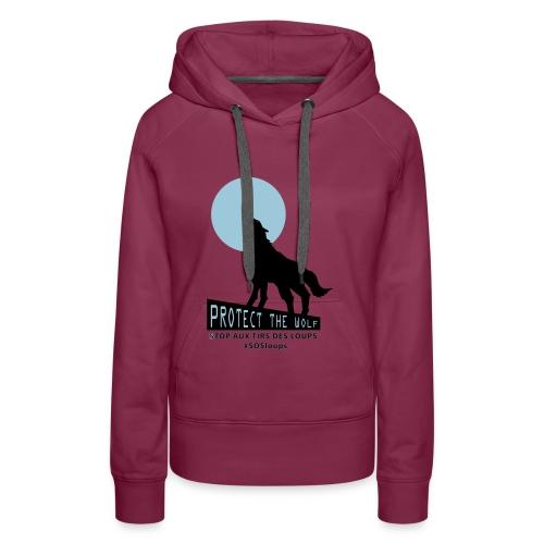 loupteeshhirt3 - Sweat-shirt à capuche Premium pour femmes