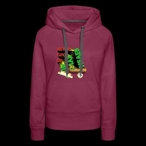Never give up (Kansidah Design) - Frauen Premium Hoodie
