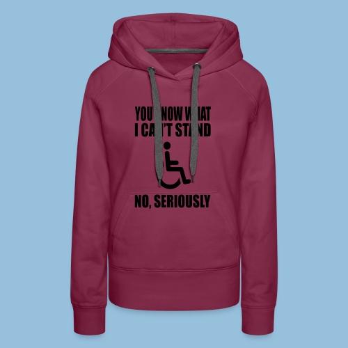 Can tstand1 - Vrouwen Premium hoodie