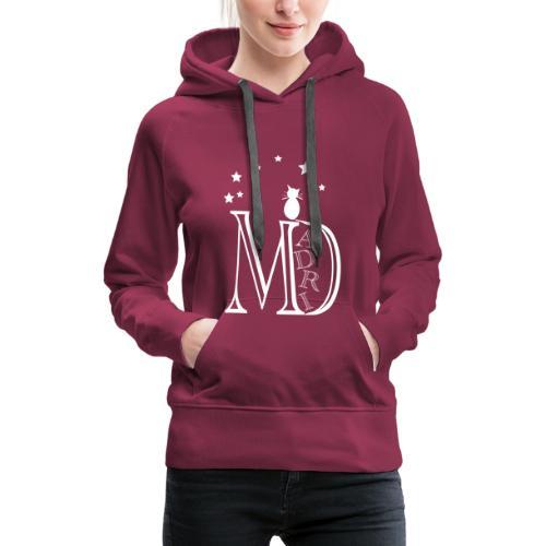 MadriG - Sudadera con capucha premium para mujer