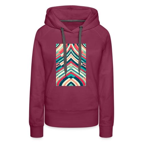 Fashion Lines - Sudadera con capucha premium para mujer