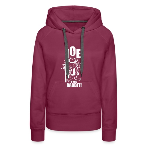 Joe The Rabbit! - Felpa con cappuccio premium da donna