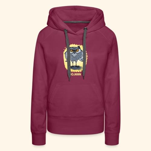 hibou wo.man design - Sweat-shirt à capuche Premium pour femmes