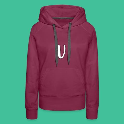 Velosity V Icon - T-Shirt Washed Burgundy Clr - Women's Premium Hoodie
