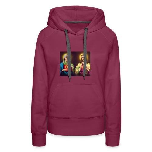 Coeurs unis de Jésus et Marie - Sweat-shirt à capuche Premium pour femmes