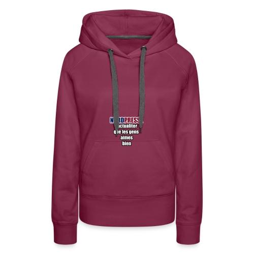 aime - Sweat-shirt à capuche Premium pour femmes