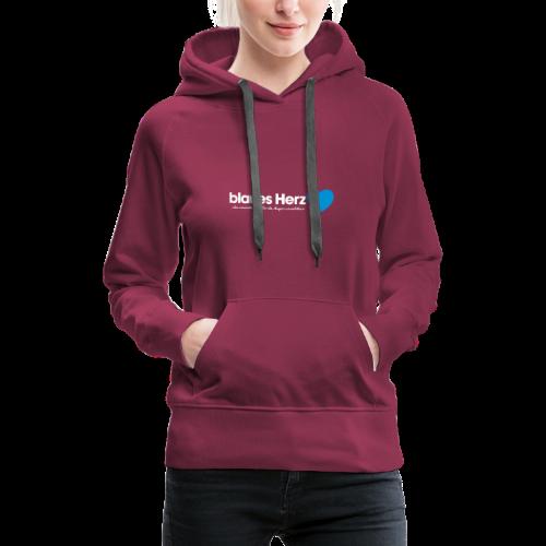 blaues Herz - Frauen Premium Hoodie