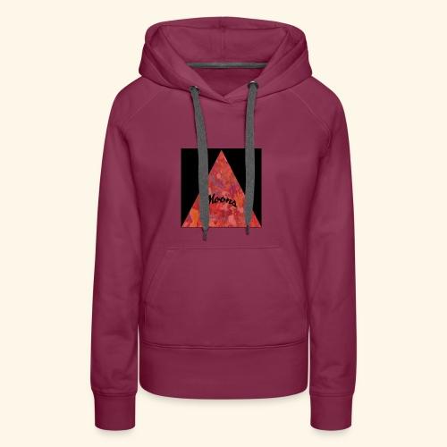 Moons rojo tri - Sudadera con capucha premium para mujer