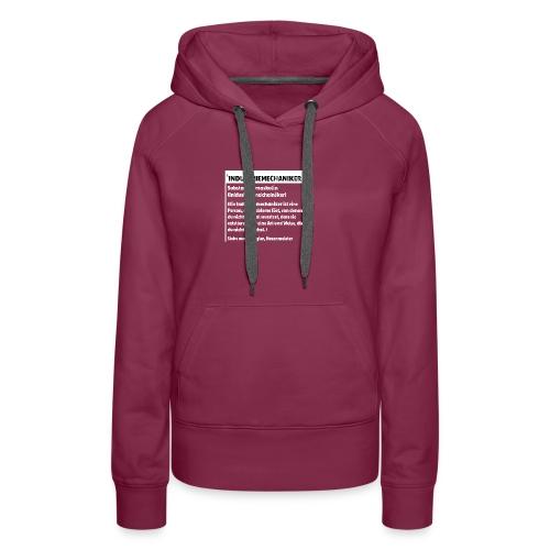 Industriemachaniker Defintion - Frauen Premium Hoodie