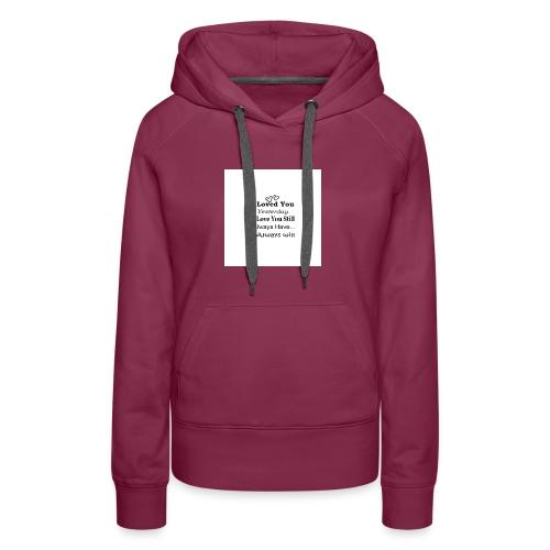 CITAT LOVE - Dame Premium hættetrøje