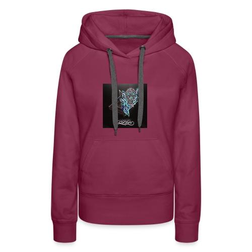 Space Zombii shirt logo design. - Sudadera con capucha premium para mujer