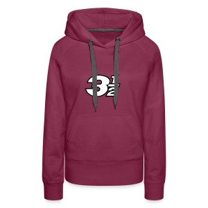 Three and a Half Logo - Women's Premium Hoodie
